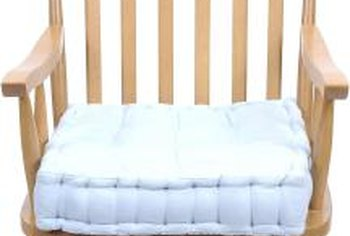 a cushion improves the comfort of a rocking chair - Wooden Rocking Chair Cushions