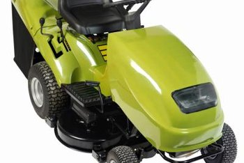 Remove the C clip to change the tires on some riding mower models.