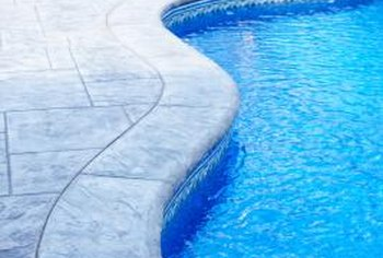 Vacuuming helps a sand filter keep pool water clean.