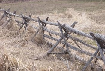 Hand split logs have been used to build fence for centuries.