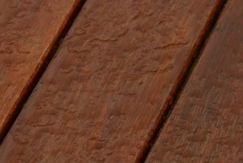 Maintenance of your mahogany deck should include regular waterproofing.