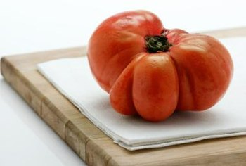Irregular heirloom tomatoes often produce more juice.