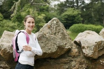 Boulders add interest to the landscape.