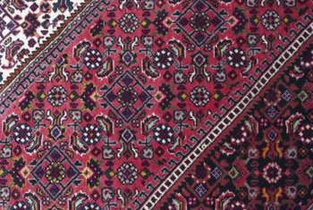 Colorful wefts distinguish collectible Persian rugs.
