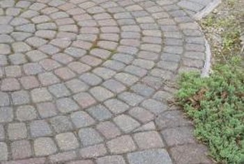 Removing a cracked or crumbling paver is simple.