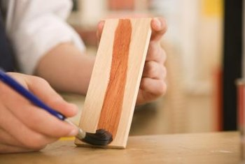 A semi-gloss or glossy topcoat makes stain colors appear richer.