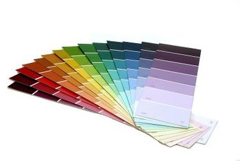 Over 256 shades of paint are created from three basic primary colors.