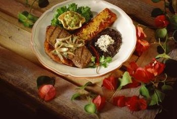Beef enchiladas are a good source of protein and iron.