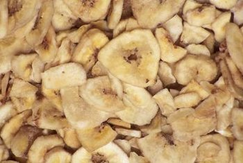 Banana chips contain potassium, but they're also high in fat.