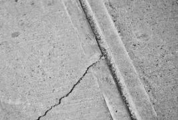 Urethane caulk can also repair cracks in some concrete paving stones.