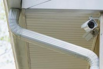 Downspouts are commonly attached to a gutter at the roof's corners.