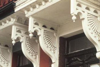 Corbels are ornate wooden bracket supports.