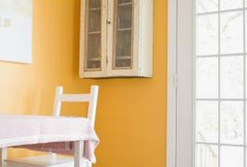 Create impact in a room with hot-hued orange.