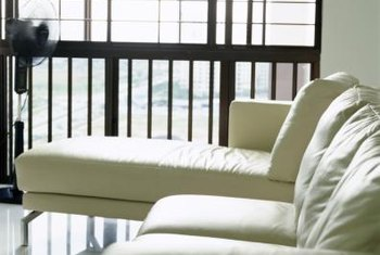 Keep your cream-colored sofa bright with frequent cleaning.
