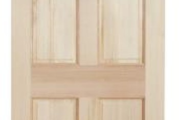 Painting a six-panel door can update the look of your home without costing a fortune.