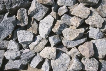 Angular gravel stones don't shift and scatter as easily as rounded stones.
