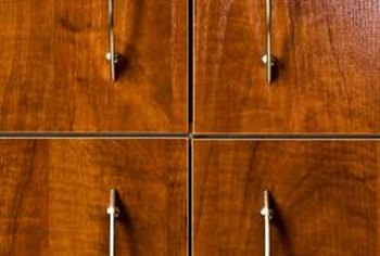 Shellac lets your cabinets retain their natural wood texture.