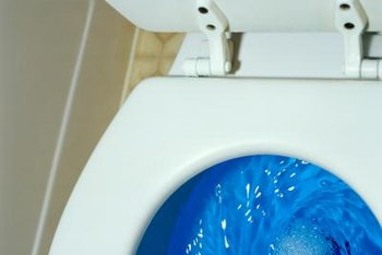Chlorinated cleaners are tough on some toilet parts.