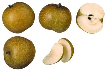 Asian pears have an apple-like shape.