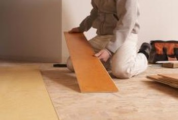 Laminate flooring snaps together for easy installation and repairs.