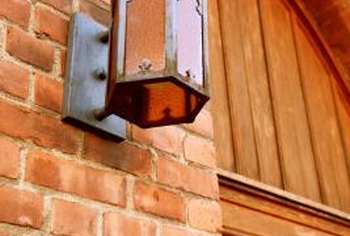 How to install lights on a brick wall home guides sf gate on install electrical outlet brick wall Install GFCI Outlet Installing Electrical Outlets in Series
