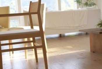 Wood floors need protection from the friction of chair legs moving back and forth.
