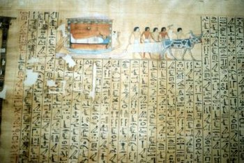 "Ancient Egyptians made paper from ""King Tut"" papyrus' ancestors."