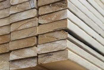 Untreated lumber will work well for a home-built planter.