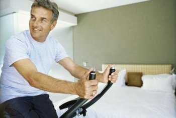 Exercising in an enclosed bedroom at night generates excess heat energy.