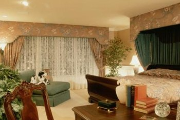 Attractive Curtains Installed On The Wall Behind The Bed Provide A Nice Backdrop To  Emphasise This Focal