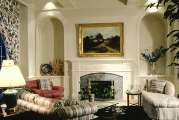 A fireplace is an architectural feature that usually takes center stage in a room. But the way that you paint it can affect the way it fits into the space. That