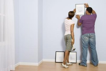 Centering a frame on the wall can be an easy way to display your favorite artwork or photos.