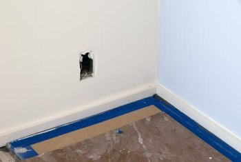 Accurate cuts are most important on unfinished drywall edges.