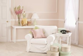 New wood furniture can easily be turned into shabby chic decor with  creativity, sanding and