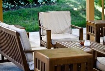 A good finish makes outdoor furniture require only light maintenance.