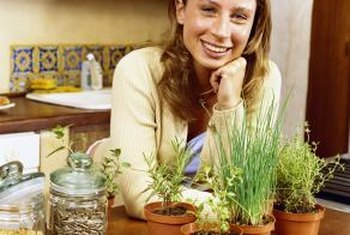Your herb garden can be planted indoors or out.