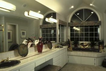 Double bathroom sinks are required to be a certain distance apart, but even more space is better.