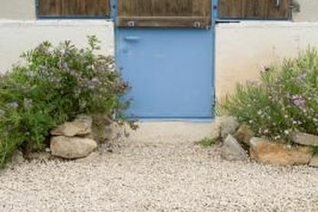 Gravel landscapes remain neat without constant maintenance.