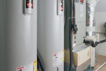 Water heater elements are readily accessible behind removable panels.
