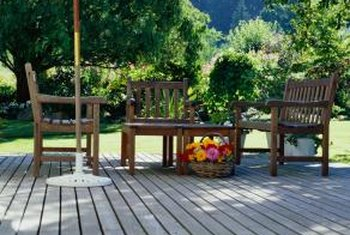 Decking is just a basic wooden floor, constructed outdoors.
