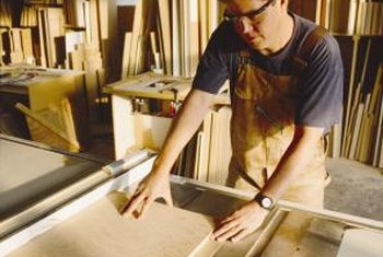 Use a table saw to cut beveled doors.