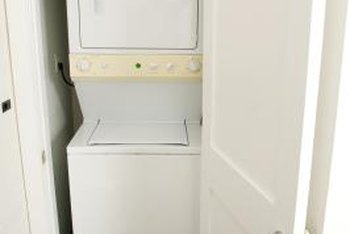 Clean your stackable washer and dryer at least once a month to keep grime and odors at bay.
