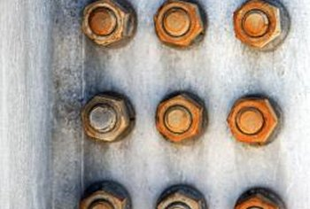 Corrosion on brass bolts creates a major problem when repairs are necessary.