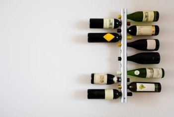 Wall racks display wine so it looks like art.