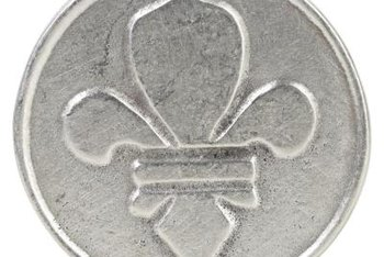 With this metal stamp, you can add a fleur-de-lis design to metal foil.
