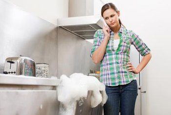 If water and suds are leaking from your dishwasher, you may need to change your detergent.