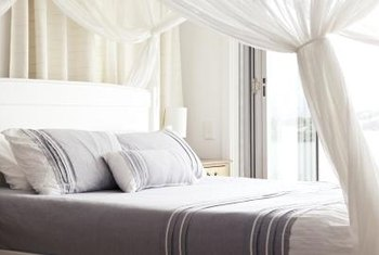 Clearing away the clutter will improve your bedroom's feeling of serenity.