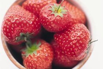 Strawberries are a common garden plant.