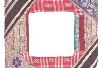 Make a patchwork quilt by using simple squares of fabric.