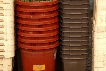 Plastic buckets are usually the easiest to convert to planters.